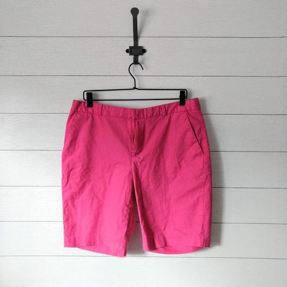 Banana Republic Pants - Banana Republic Pink Flat Front Cotton Shorts 12